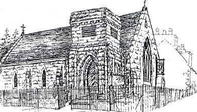 Line drawing of Christ Church