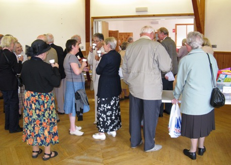 Coffee and fellowship in the Gordon Memorial Hall after the 11.00am service