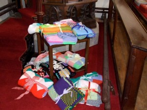 Healing blankets made by Mothers' Union members